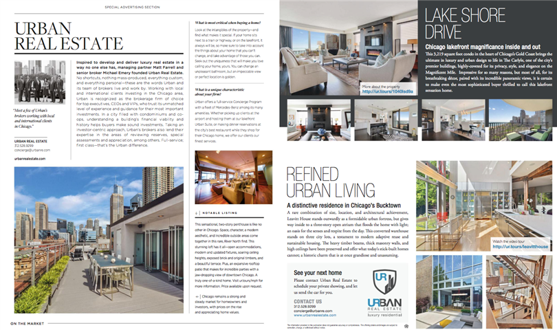 Urban Real Estate Showcases Luxury Properties in Luxe Magazine