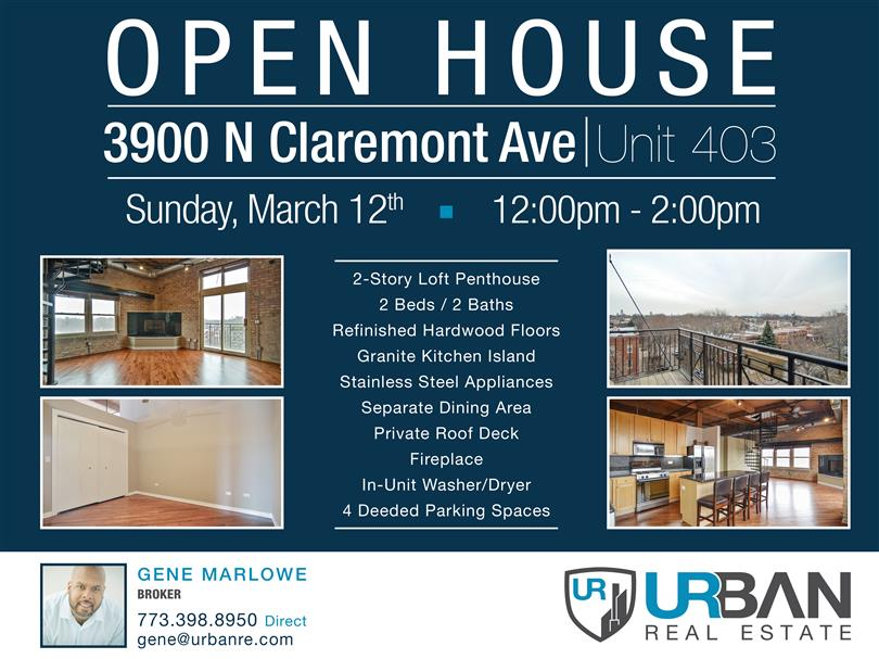 Open House in North Center | Sun. March 12th | 12pm-2pm