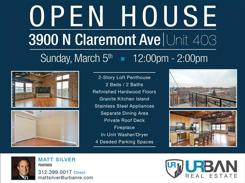 Open House in North Center | Sun. March 5th | 12pm-2pm
