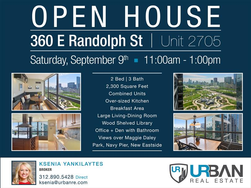 Open House - Saturday, September 9th