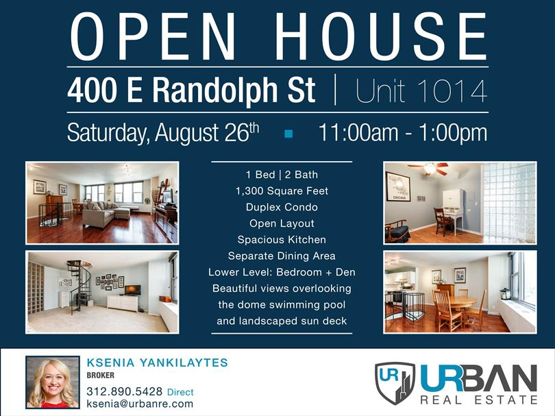 Open House - Saturday, August 26th