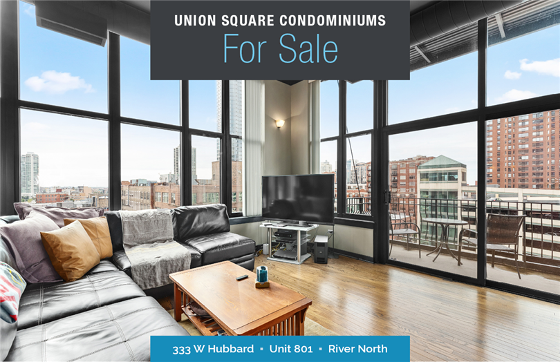 Dramatic Corner Unit in Union Square Condominiums For Sale