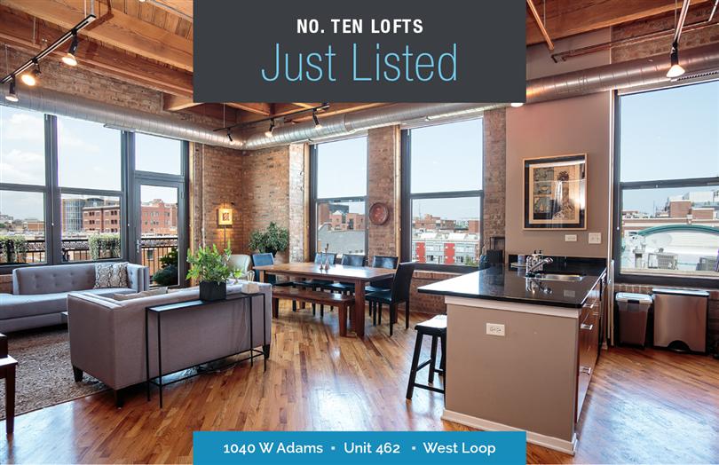 Top Floor Corner Unit in No. TEN Lofts