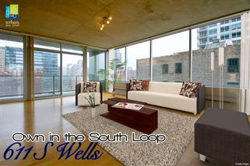 South Loop Living: Own NOW at 611 S Wells!