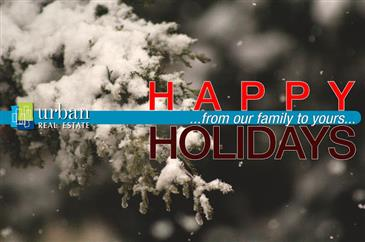 Happy Holidays from Urban Real Estate!