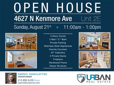 Uptown OPEN HOUSE Sunday! 11:00am-1:00pm