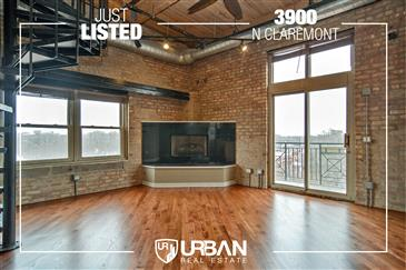 2-Story Timber Loft Penthouse Just Listed in North Center