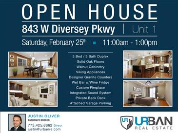 Open House in Lovely Lincoln Park | Sat. Feb. 25th | 11am-1pm