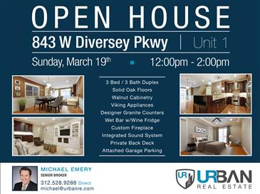 Open House in Lovely Lincoln Park | Sun. Mar. 19th | 12pm-2pm