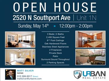 Open House in Lincoln Park | Sun. May 14th | 12pm-2pm
