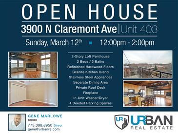 Open House in North Center | Sun. March 12th | 12pm-2pm
