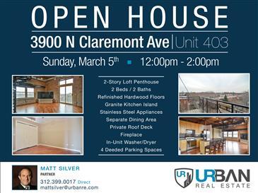 Open House in North Center | Sun. March 5th | 12pm-2pm