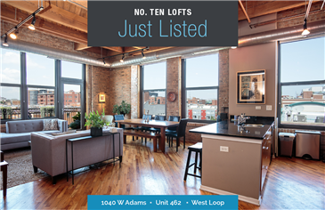 Top Floor Corner Unit in No. TEN Lofts